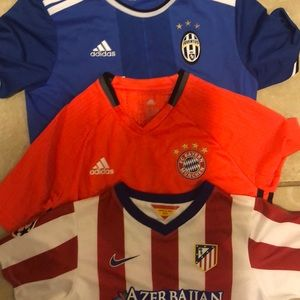 Other - 3 boys soccer jerseys authentic